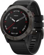 Смарт-часы Garmin Fenix 6X Pro Sapphire Carbon Grey DLC with Black Band (010-02157-11)