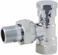 Кран радіаторний FADO RC02 хром 1/2 кутовой нижній