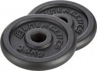 Набор Energetics Cast Iron Disc Pair диски для грифа 2 шт. 2,5 кг 108792