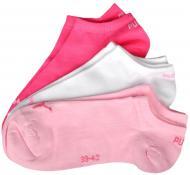 Шкарпетки Puma UNISEX SNEAKER PLAIN 3P р. 35-38 червоно-рожево-білий