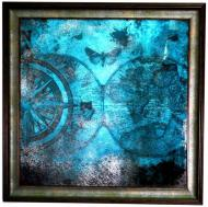 Картина на дзеркалі X7 GRANGINA BLUE MAP №61G 71x71 см СЕАПС