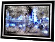 Картина на дзеркалі X6 ELECTRIC LONDON №7073BL 72x52 см СЕАПС