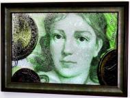 Картина на дзеркалі X6 5 MARKS BENNITA VON ARNIM №68 70x50 см СЕАПС