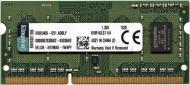 Оперативна пам'ять Kingston SODIMM DDR3 4 GB (1x4GB) 1600 MHz (KVR16LS11/4)