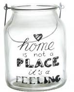 Свічник Home is not a place it's a feeling 16х16х21 см