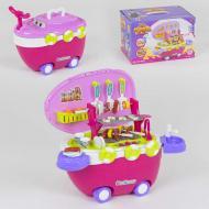 Музыкальный игровой набор на колесах Барбекю Small Toys 668-45 40 деталей Розовый (2-59519A)