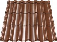 Металочерепиця MAXIMA 350/20 1,195x1,160 PE RAL 8017 коричневий