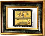 Картина на дзеркалі X4 100$ DOLLARS BENJAMIN FRANKLIN №6095 44x35 см СЕАПС