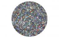 Голографічний гліттер срібло Bioplast 15 г