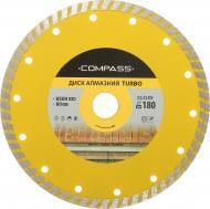 Диск алмазний відрізний Compass Turbo 180x2,0x22,2 граніт , мармур , бетон