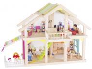 Кукольный домик goki 2 этажа с внутреним двориком Susibelle 51588G