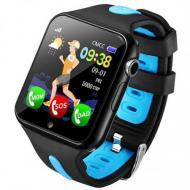 Детские Умные Часы Baby Smart Watch V5K Original Черно-Голубые
