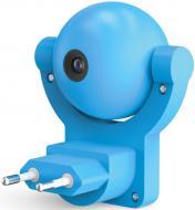 Нічник-розетка Gauss Mood LED з датчиком освітлення 0,5 Вт синій