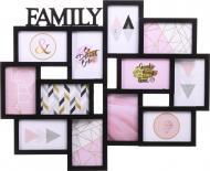 Фотоколлаж Family 61,5х50,5х2,5см 12 фото 10x15 см черный