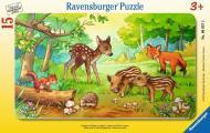 Пазл у рамці Ravensburger Лісові малята 15 елементів 06376