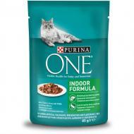 Корм для кастрованих котів/стерилізованих кішок ONE Indoor з тунцем і зеленою квасолею 85 г