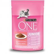 Корм для кошенят/лактуючих кішок ONE Junior лосось 85 г
