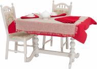 Комплект столовий Рогожка 2 скатертини та 6 серветок Галерея льону