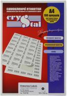 Етикетки UPM-Kymmene Crystal А4 105*74,6 мм 100 аркушів