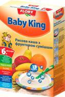 Каша безмолочная Baby King рисовая с фруктовой смесью 160 г