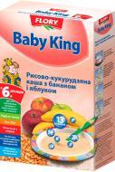 Каша безмолочная Baby King рисово-кукурузная с бананом и яблоком 160 г
