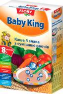 Каша безмолочная Baby King 4 злака со смесью овощей 160 г