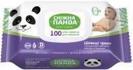 Дитячі вологі серветки Сніжна Панда з ароматом цілющих трав 100 шт.