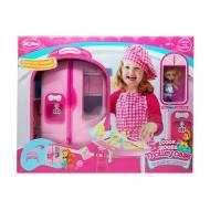 Игрушечная мебель кухня в чемодане A-Toys розовая QL048