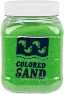 Пісок мармуровий Яскравий зелений 0,2-0,5 мм 650 г (6018)