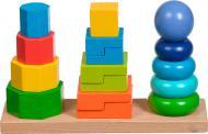 Развивающая игрушка Іграшки з дерева Пирамидки 3 в 1 Д037
