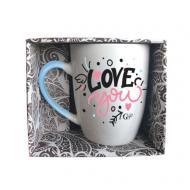 Чашка Love You 350 мл blue GGP