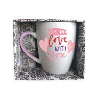 Чашка Love You 350 мл pink GGP