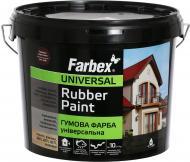 Фарба Farbex гумова RAL3009 красно-коричневый 12кг