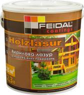 Лазур Feidal Holzlasur шовковистий глянець горіх 2,3 л