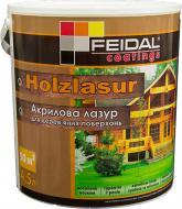 Лазур Feidal Holzlasur шовковистий глянець горіх 4,5 л