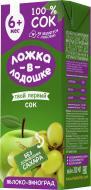 Сік Ложка в ладошке Яблучно-виноградний 200 мл