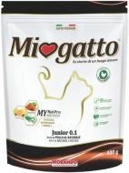 Корм сухий для кошенят від 1 до 12 місяців, для вагітних і годуючих кішок Morando MioGatto Junior курка 400 г