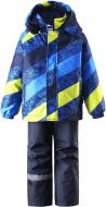 Комплект (куртка + брюки на підтяжках) Lassie 723693B-6511 104 см синьо-салатовий (6416134500318)