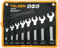 Набір ключів рожкових Tolsen 6-22 мм 15076