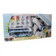 Игровой набор Аэропорт с автобусом А-Toys X666-05 голубой