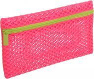 Пенал шкільний 23х13.5 см неон рожевий