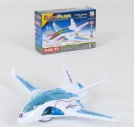 Самолет на батарейках Small Toys 038DR-3 со светом и звуком Белый (2-77557)