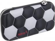 Пенал школьный Футбольный мяч черно-белый