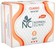 Прокладки гігієнічні Normal Clinic Classic Silk&Dry light 8 шт.