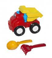 Машина Смайл самосвал №1 красная + грабельки и лопатка Colorplast (0121)