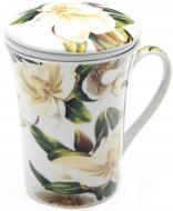 Чашка с заварником Белая магнолия 390 мл Оселя