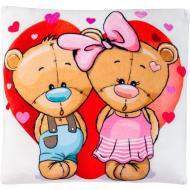 Подушка декоративная Stip Мишки в сердце 35 см