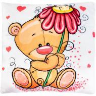 Подушка декоративная Stip Мишка с цветочком 35 см