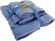 Набор полотенец BALE 4 шт. 50х80 см 70x140 см голубой Karna