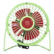 Портативный мини-вентилятор Fan Mini Sanhuai A18 Green + Red настольный USB (3175-9869)